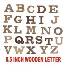 0.5 inch Height wooden letter - Adgreek