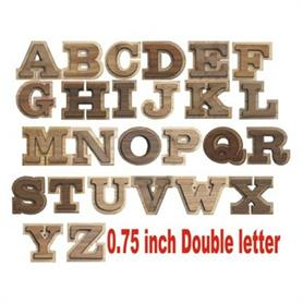 0.75 inch Double letter - Adgreek