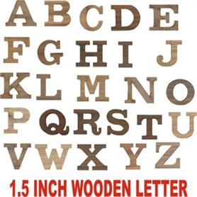 1.5 inch Height wooden letter - Adgreek