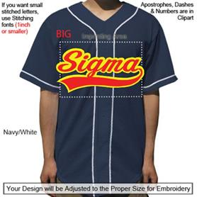 Mesh Baseball Jersey w/PipingTail Design - Adgreek