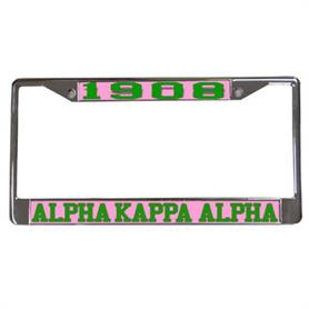 AKA Acrylic lettered License frame(1908) - Adgreek