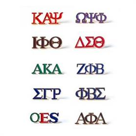 AKA 3 Letter Color Pin - Adgreek