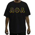 AFA T-shirt(Black)(Black on Old Gold) - Adgreek