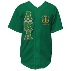 AKA Baseball Jerseys(Mesh 012)(AKA W/Crest Green on Pink) - Adgreek