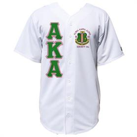 AKA Baseball Jerseys(Solid 004)(AKA letters Green on pink letters) - Adgreek