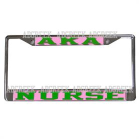 AKA Mirror Acrylic License frame(Nurse) - Adgreek