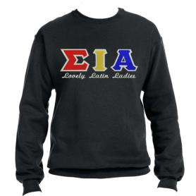 Sigma Iota Alpha Black Crewneck5 - Adgreek