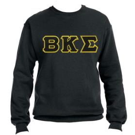Beta Kappa Sigma Black Crewneck1 - Adgreek