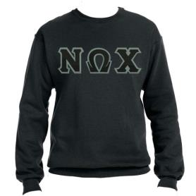Nu Omega Chi Black Crewneck1 - Adgreek