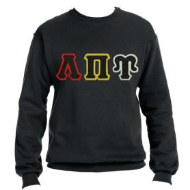 Lambda Pi Upsilon Black Crewneck1 - Adgreek