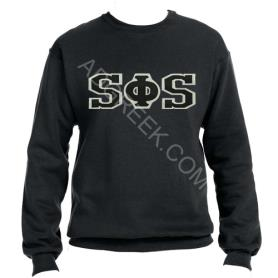 Swing Phi Swing Black Crewneck1 - Adgreek