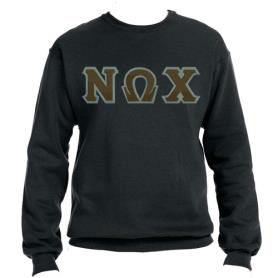 Nu Omega Chi Black Crewneck2 - Adgreek
