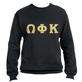 Omega Phi Kappa Black Crewneck1 - Adgreek