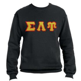 Sigma Lambda Upsilon Black Crewneck2 - Adgreek