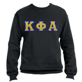 Kappa Phi Alpha Black Crewneck2 - Adgreek