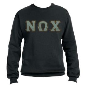 Nu Omega Chi Black Crewneck3 - Adgreek