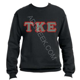 Tau Kappa Epsilon Black Crewneck1 - Adgreek