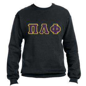 Pi Lambda Phi Black Crewneck2 - Adgreek