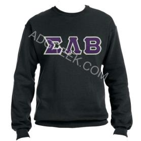 Sigma Lambda Beta Black Crewneck1 - Adgreek