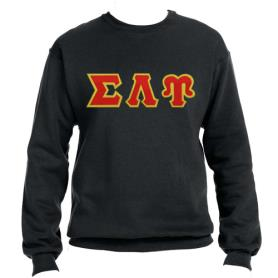Sigma Lambda Upsilon Black Crewneck3 - Adgreek