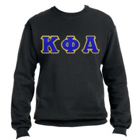 Kappa Phi Alpha Black Crewneck4 - Adgreek