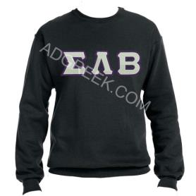 Sigma Lambda Beta Black Crewneck2 - Adgreek