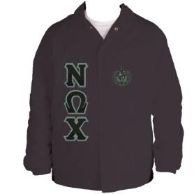 Nu Omega Chi Brown Line Jacket1 - Adgreek