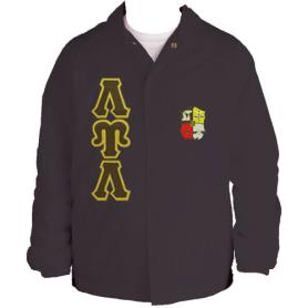 Lambda Upsilon Lambda Brown Line Jacket1 - Adgreek