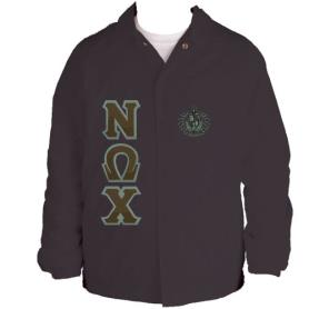Nu Omega Chi Brown Line Jacket2 - Adgreek