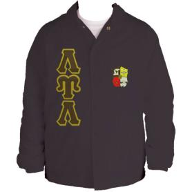 Lambda Upsilon Lambda Brown Line Jacket2 - Adgreek