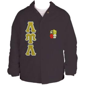 Lambda Upsilon Lambda Brown Line Jacket4 - Adgreek