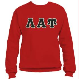 Lambda Alpha Upsilon Red Crewneck5 - Adgreek