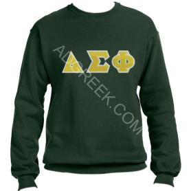 Delta Sigma Phi Forest Green Crewneck1 - Adgreek