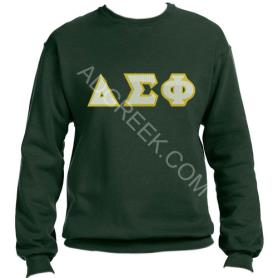 Delta Sigma Phi Forest Green Crewneck2 - Adgreek