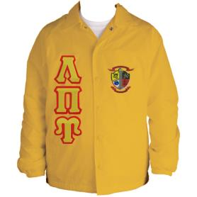 Lambda Pi Upsilon Gold Line Jacket2 - Adgreek