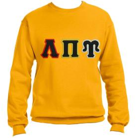 Lambda Pi Upsilon Gold Crewneck1 - Adgreek