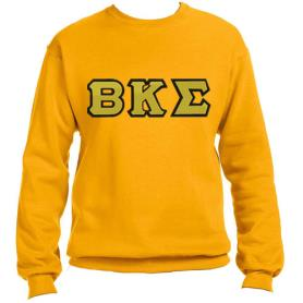 Beta Kappa Sigma Gold Crewneck2 - Adgreek