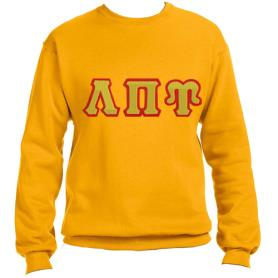 Lambda Pi Upsilon Gold Crewneck2 - Adgreek