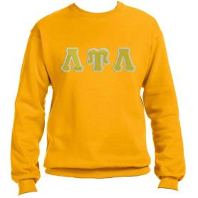 Lambda Upsilon Lambda Gold Crewneck2 - Adgreek