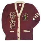 Kappa Alpha Psi Cardigan V Neck Cardigan(Maroon & Cream) - Adgreek