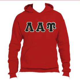 Lambda Alpha Upsilon Red Hoodie2 - Adgreek