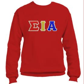 Sigma Iota Alpha Red Crewneck2 - Adgreek