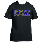 Sigma Gamma Rho Tshirt(Black)(19SGR22)(Royal on Gold) - Adgreek