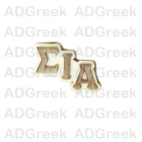 Sigma Iota Alpha Big Wooden Pin - Adgreek