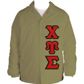 Chi Upsilon Sigma Tan Line Jacket1 - Adgreek
