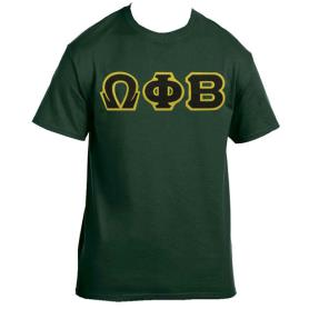 Omega Phi Beta Forest Green Tshirt1 - Adgreek