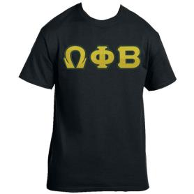 Omega Phi Beta Black Tshirt1 - Adgreek