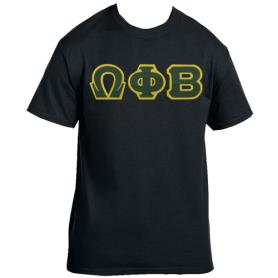 Omega Phi Beta Black Tshirt2 - Adgreek