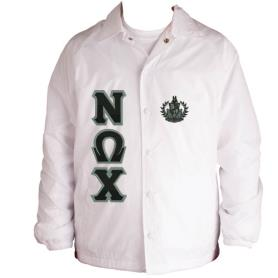 Nu Omega Chi White Line Jacket1 - Adgreek