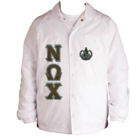 Nu Omega Chi White Line Jacket2 - Adgreek